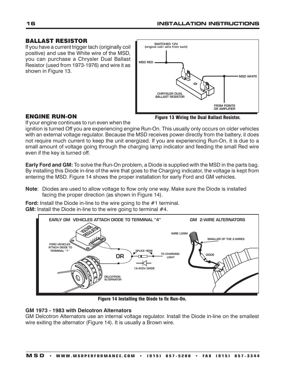 hight resolution of ballast resistor engine run on msd 6530 digital programmable 6al msd ignition 6al wiring diagram msd 6al wiring ford inline 6