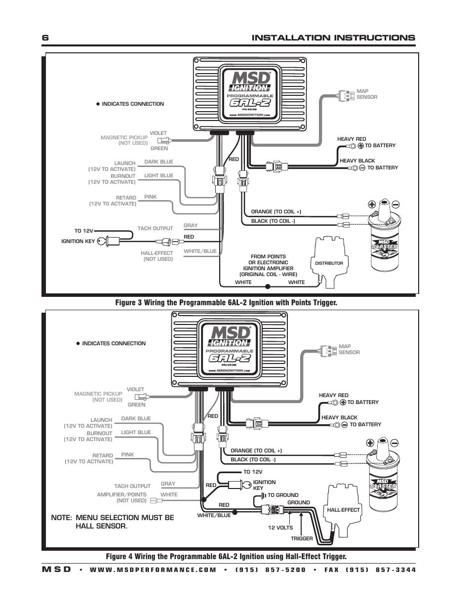 medium resolution of msd 6al 2 wiring diagram 6530 wiring diagram forward6installation instructions m s d msd 6530 digital programmable 6al