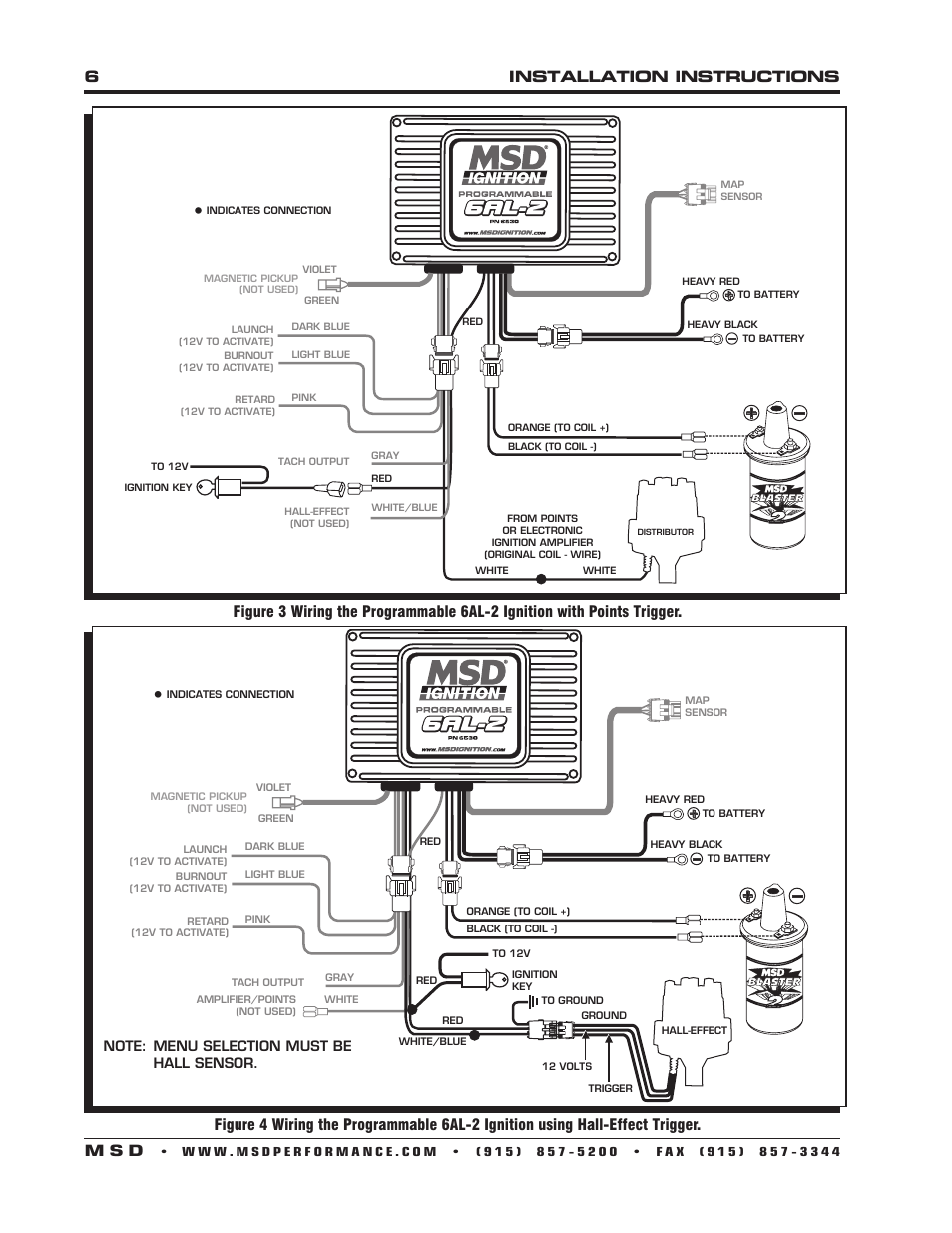 hight resolution of msd 6al 2 wiring diagram 6530 wiring diagram forward6installation instructions m s d msd 6530 digital programmable 6al