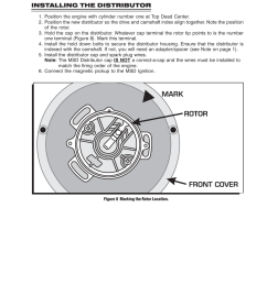 installing the distributor msd 8353 ford front mount flathead pro billet distributor installation user manual page 5 8 [ 954 x 1235 Pixel ]