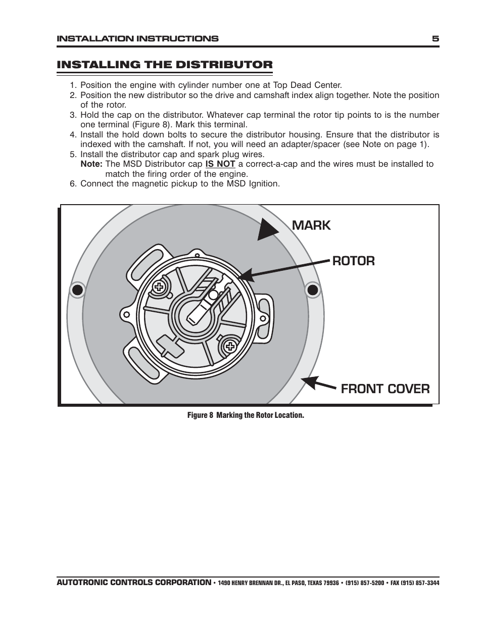 hight resolution of installing the distributor msd 8353 ford front mount flathead pro billet distributor installation user manual page 5 8