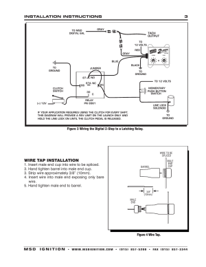 Wire tap installation | MSD 8732 2Step Rev Control for