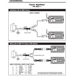 msd 8911 tach splitter dual ignition systems installation user manual 1 page [ 954 x 1235 Pixel ]