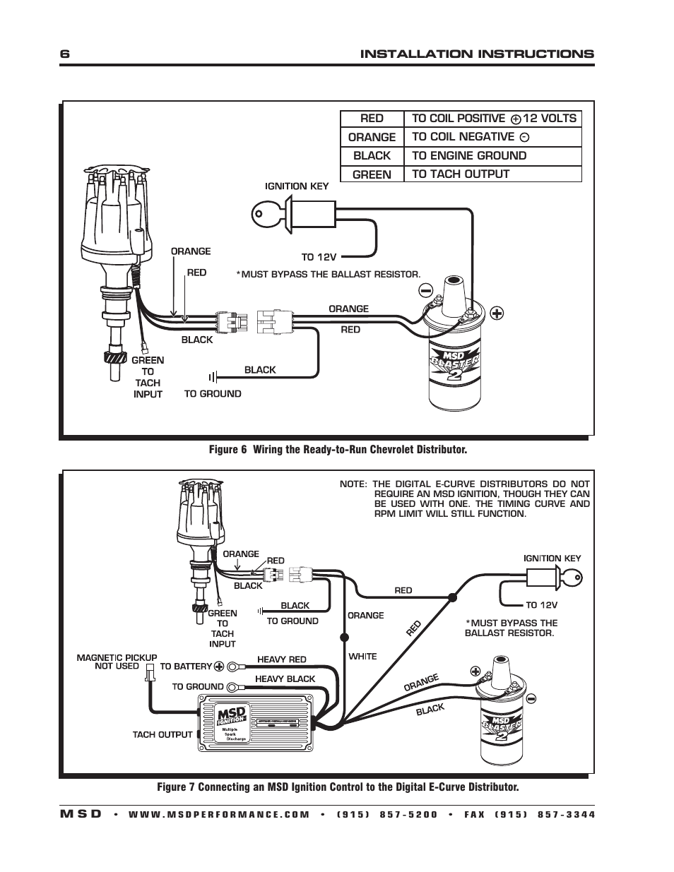 hight resolution of msd 8503 ford 289 302 e curve pro billet distributor installation gm hei distributor wiring diagram msd ready to run chevrolet distributor wiring