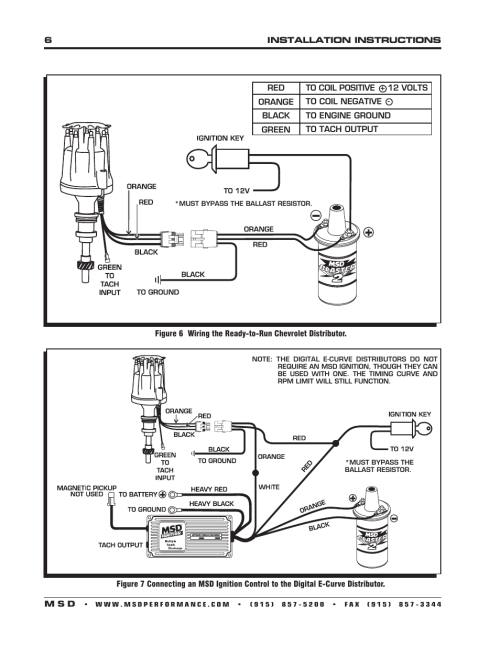 small resolution of msd 8503 ford 289 302 e curve pro billet distributor installation gm hei distributor wiring diagram msd ready to run chevrolet distributor wiring