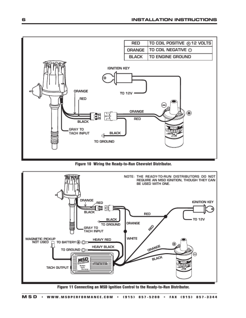 small resolution of msd 8360 chevy v8 w internal module distributor installation user manual page 6 8 also for 8393 chevy 348 409 ready to run distributor installation
