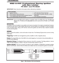 msd 6631 6 hvc professional race with rev control deutsch connectors installation user manual 4 pages also for 6632 6hvc l with soft touch rev control  [ 954 x 1235 Pixel ]