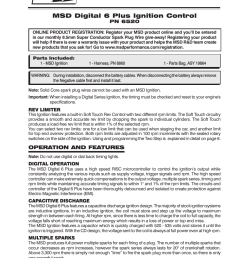 msd 6520 digital 6 plus ignition control installation user manual 24 pages [ 954 x 1235 Pixel ]