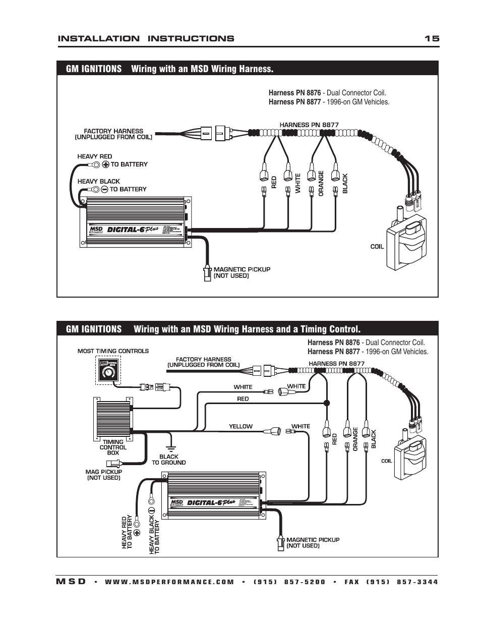 medium resolution of msd 6520 digital 6 plus ignition control installation user manual page 15 24