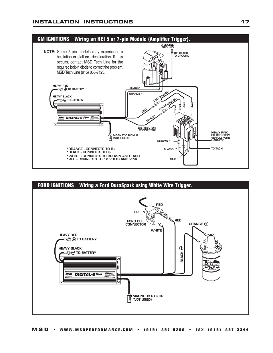 hight resolution of installation instructions 17 m s d msd 6520 digital 6 plus ignition control installation user manual