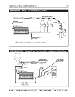 MSD 6520 Digital 6Plus Ignition Control Installation User Manual | Page 19  24