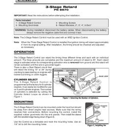 msd 8970 three stage retard control installation user manual 8 pages msd 7al  3 wiring diagram msd 8970 wiring diagram