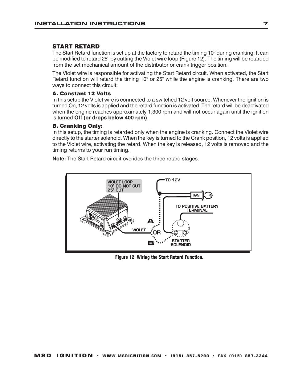medium resolution of msd 8970 three stage retard control installation user manual page 7 8