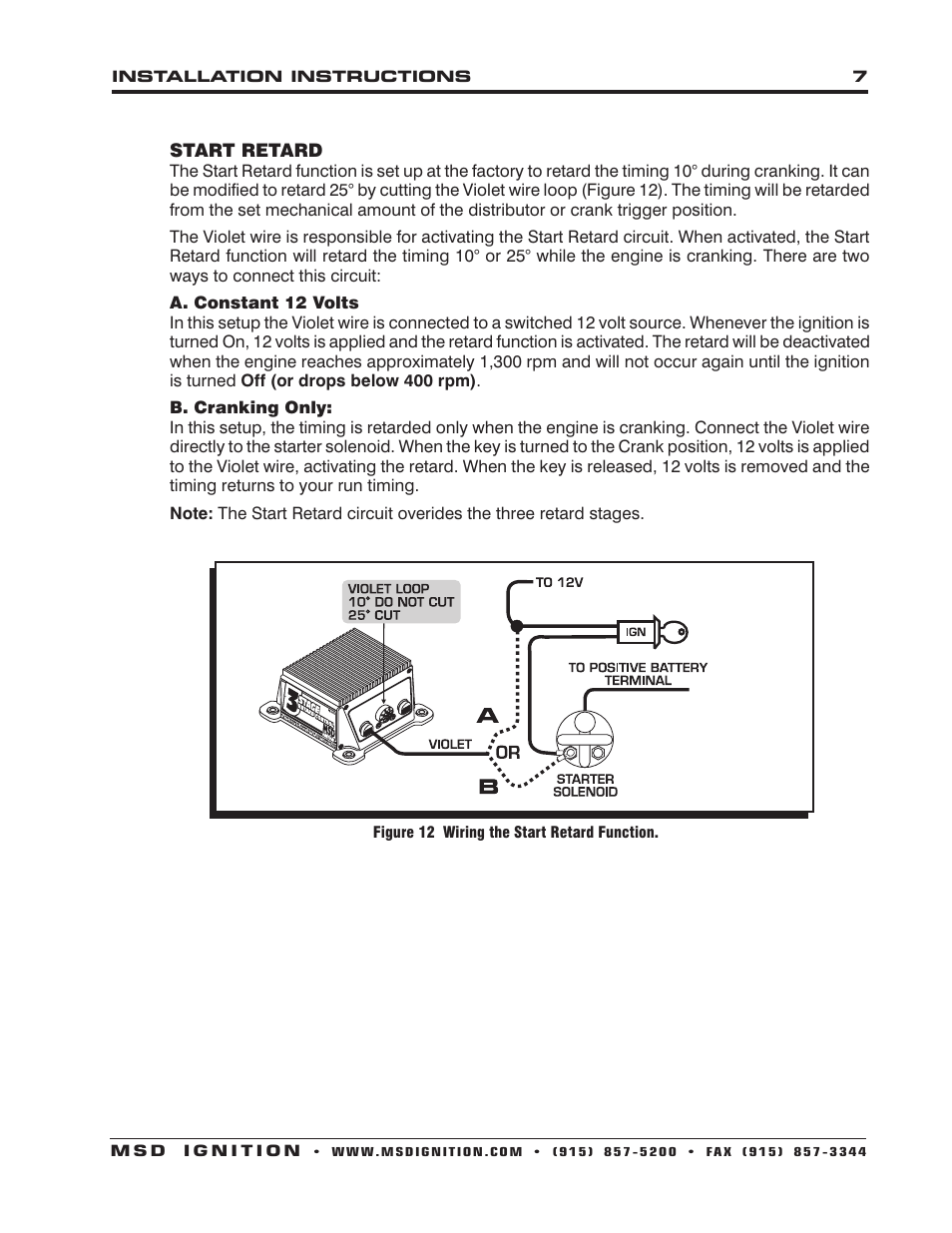 hight resolution of msd 8970 three stage retard control installation user manual page 7 8