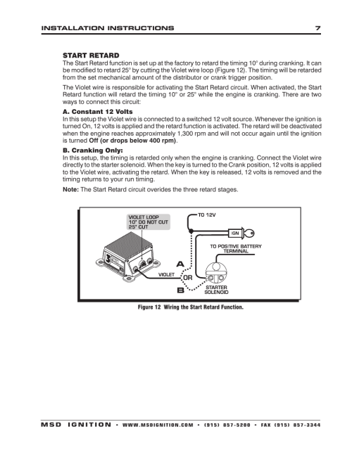 small resolution of msd 8970 three stage retard control installation user manual page 7 8