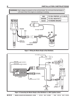 6installation instructions m s d | MSD 83506 Ford 351460