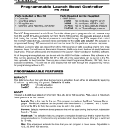 msd 7562 programmable launch boost controller installation user manual 24 pages [ 954 x 1235 Pixel ]