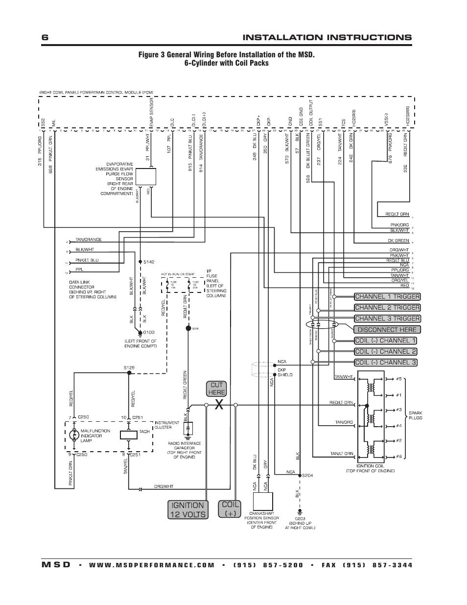 wiring diagram for msd 6al toyota 1jz ge install digital 6 plus toyskids co dis 4 32 wizard to littl