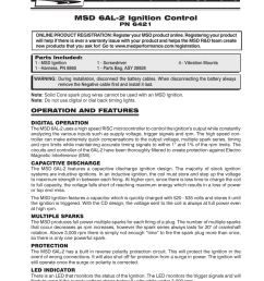 msd digital 6al wiring instruction [ 954 x 1235 Pixel ]