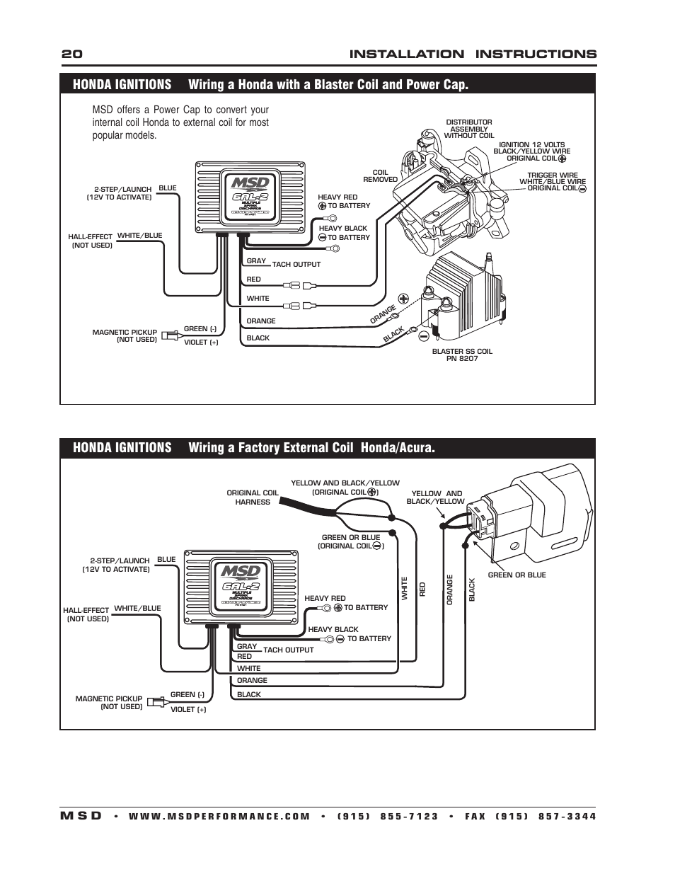 hight resolution of 20 installation instructions m s d msd 6421 6al 2 ignition control installation user manual page 20 28