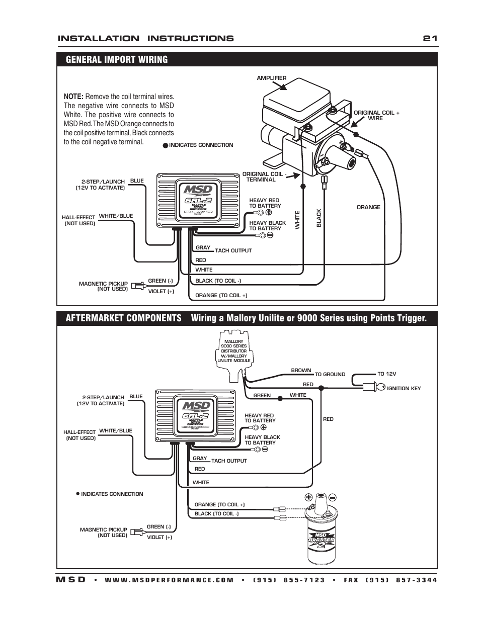 hight resolution of installation instructions 21 m s d msd 6421 6al 2 ignition control installation user manual