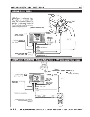 Installation instructions 21 m s d | MSD 6421 6AL2