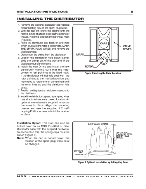 small resolution of msd 8534 chrysler 318 360 billet distributor installation user manual page 5 8