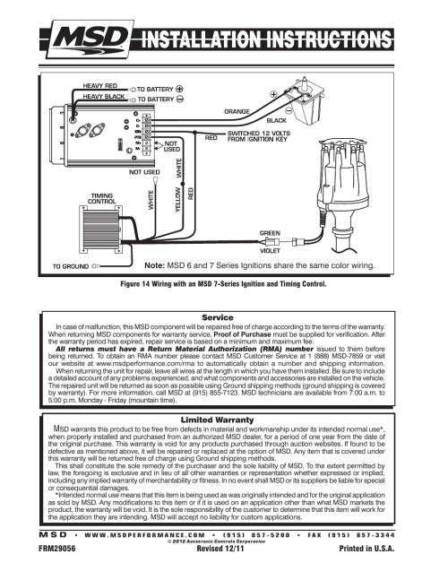 small resolution of msd 8534 chrysler 318 360 billet distributor installation user manual page 8 8
