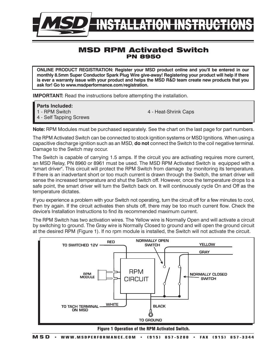 Msd 8950 Wiring Diagram 1995 Honda Civic Wiring Diagram