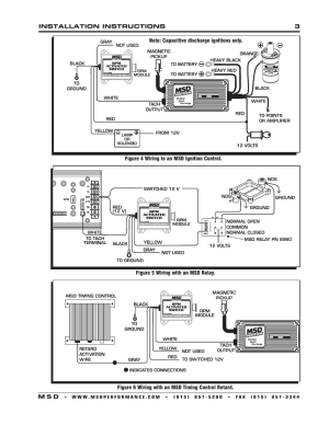 MSD 8950 RPM Activated Switch Installation User Manual | Page 3  4