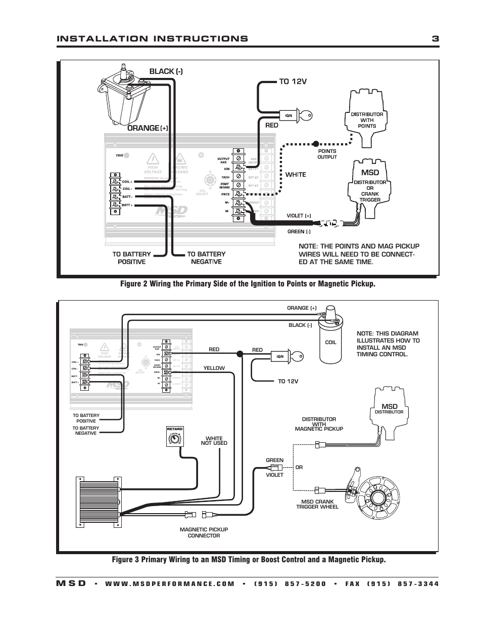 ignition coil distributor wiring diagram ritetemp 8022 thermostat installation instructions 3 m s d | msd 7330 7al-3 control user manual ...