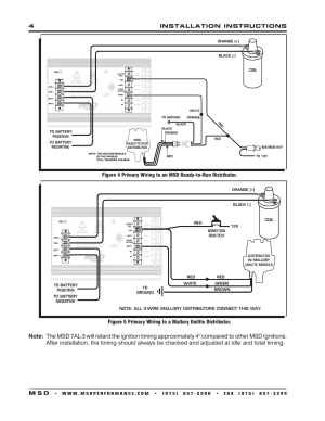 4installation instructions m s d | MSD 7330 7AL3 Ignition Control Installation User Manual