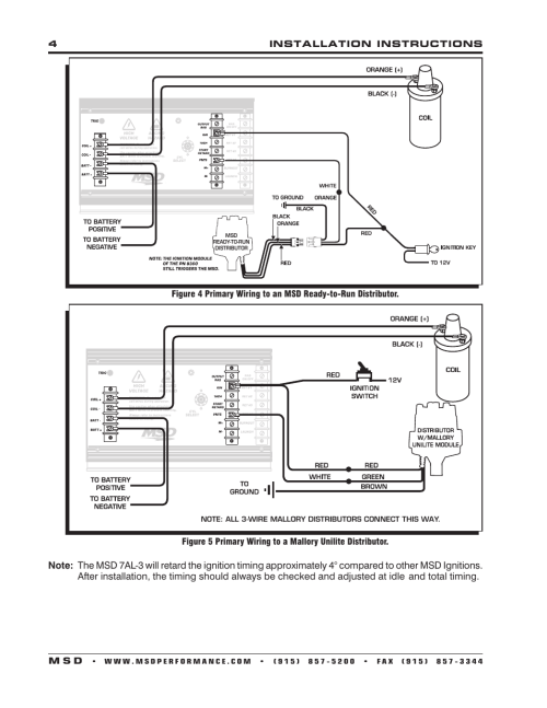 small resolution of 4installation instructions m s d msd 7330 7al 3 ignition control installation user manual page 4 12