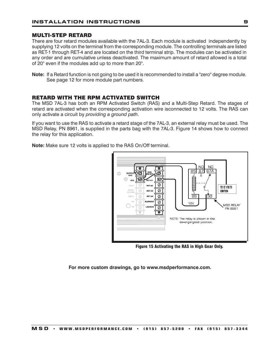 hight resolution of msd 7al3 wiring diagram wiring diagram todaysmsd 7330 7al 3 ignition control installation user manual page
