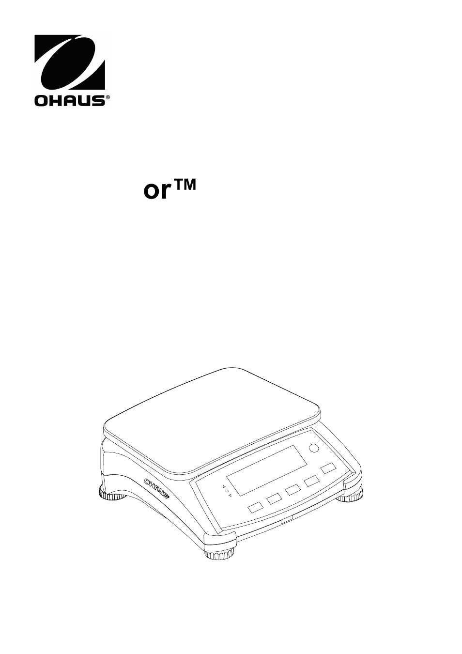 Ohaus Valor 7000 Series COMPACT FOOD SCALES Manual User