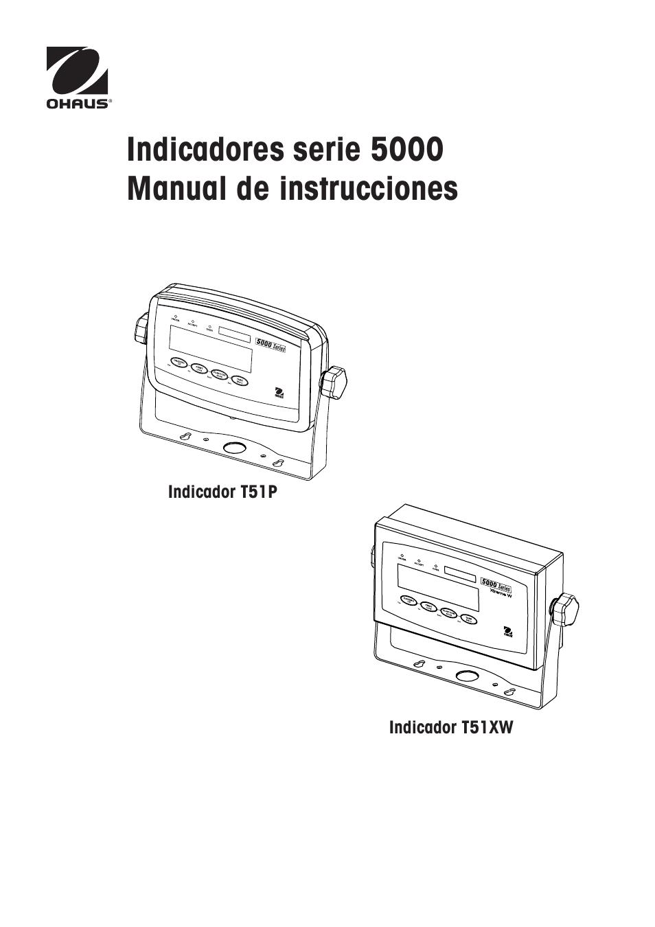 Ohaus DEFENDER 5000 BENCH SCALES Manual es User Manual