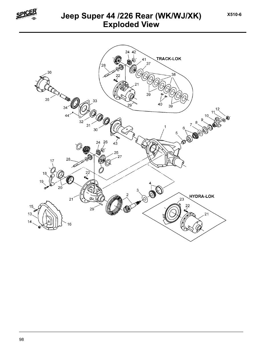 Spicer Jeep Applications 1999-2011 Light Axle Parts User