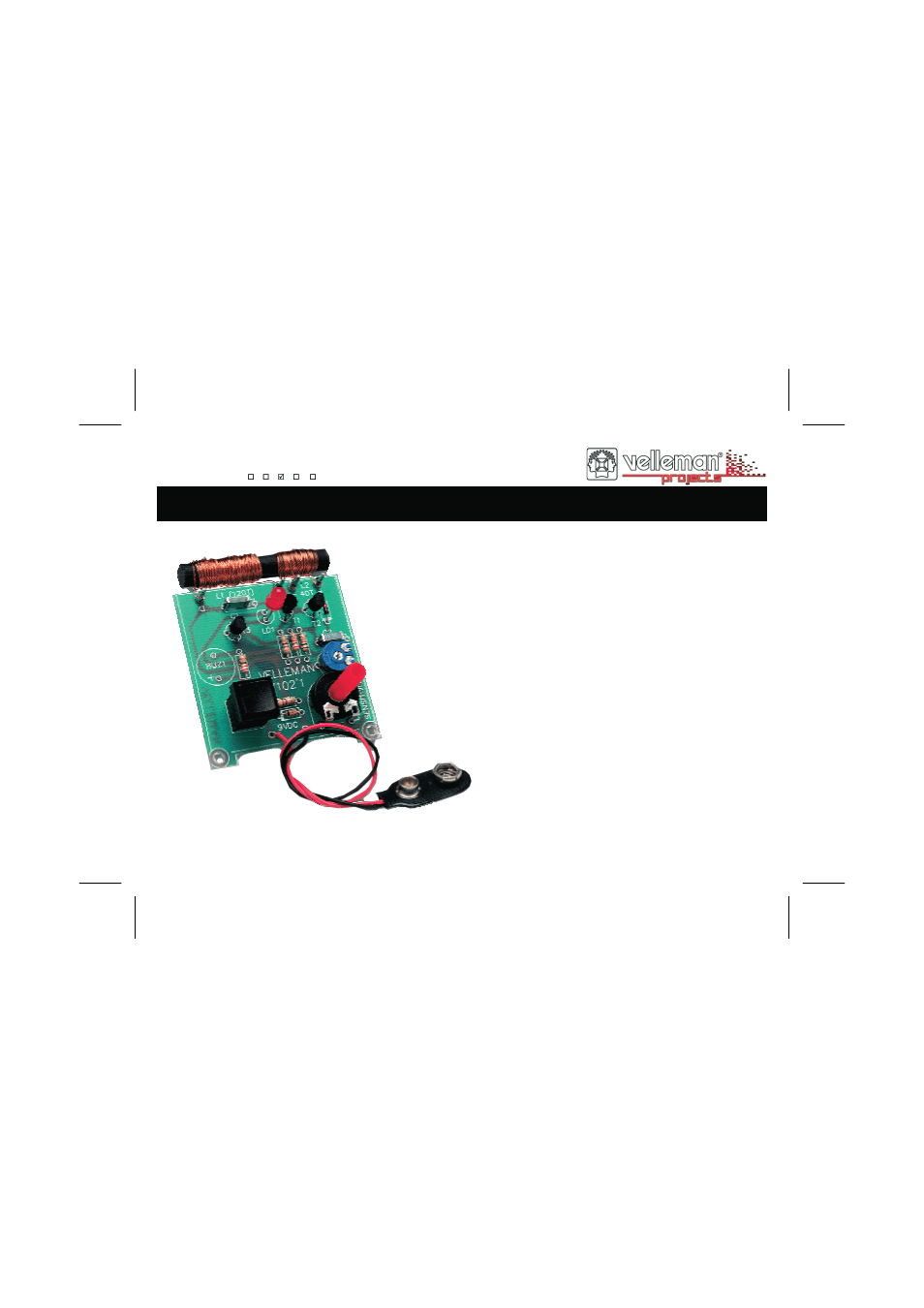 Velleman projects K7102 Assembly instructions User Manual