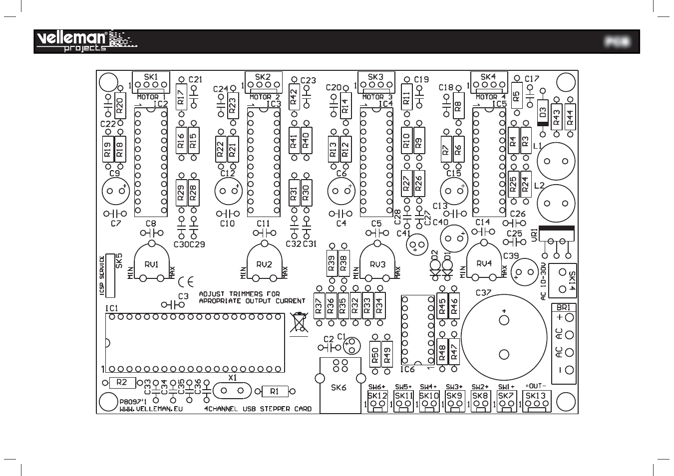 Velleman projects K8097 Assembly instructions User Manual