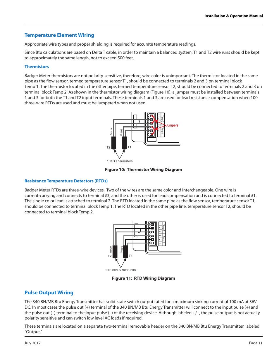 medium resolution of temperature element wiring thermistors resistance temperature detectors rtds badger meter 340