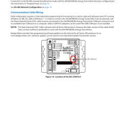 communications cable wiring data industrial figure 14 location of the dic com port badger meter 340 bn mb btu energy transmitter user manual page 13  [ 954 x 1235 Pixel ]