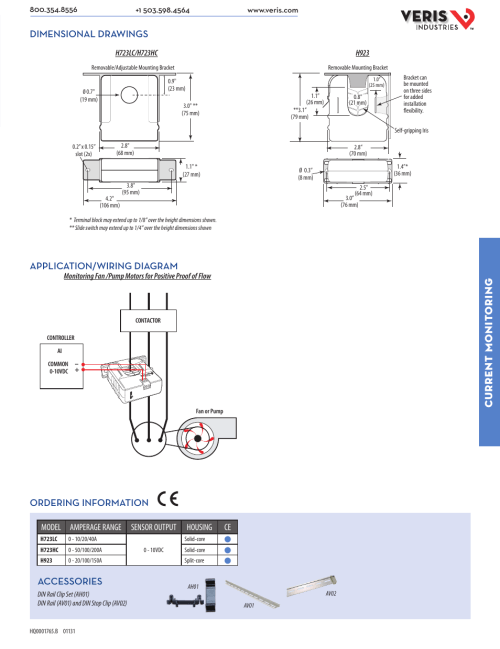 small resolution of current monit oring dimensional drawings application wiring diagram ordering information accessories