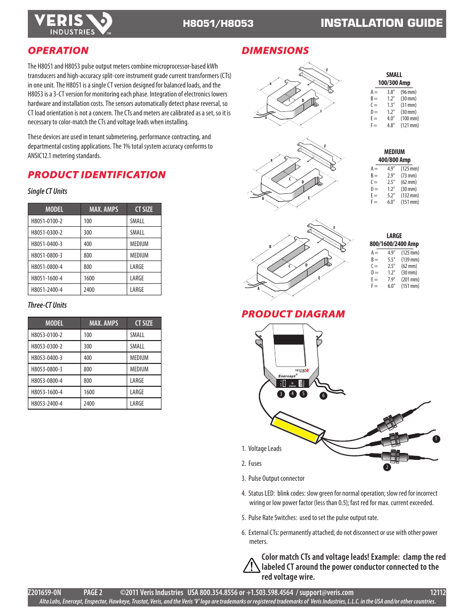 medium resolution of installation guide operation product diagram product identification veris industries h8053 install user manual