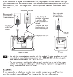 telephone base and charger installation telephone base and charger installation vtech cs6829 manual user manual page 6 84 [ 954 x 1354 Pixel ]