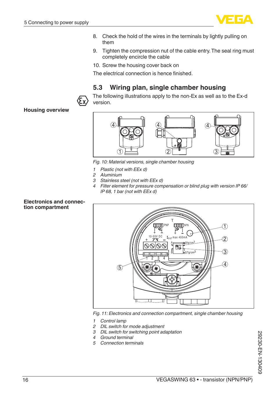 hight resolution of 3 wiring plan single chamber housing vega vegaswing 63 transistor npn