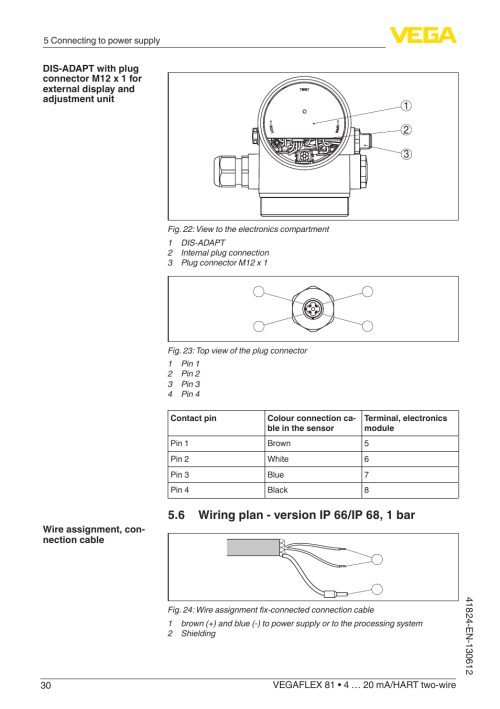 small resolution of  db9 connector wiring diagram vega vegaflex 81 4 20 ma hart two wire user manual page 30