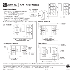 Altronix RB5 Installation Instructions User Manual   1 page