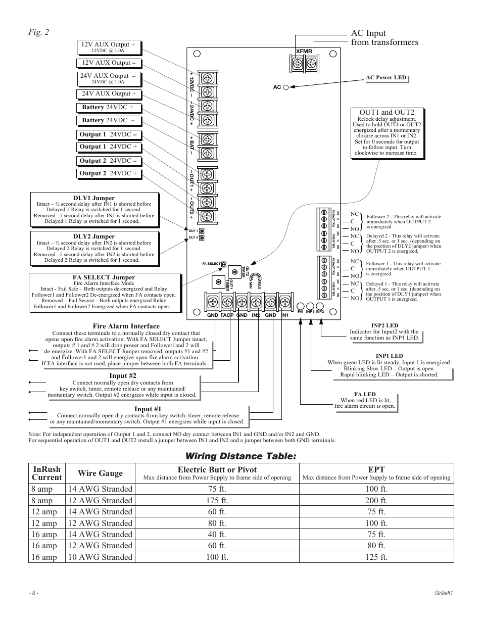 medium resolution of  wiring distance table ac input from transformers fig 2 altronix on relay