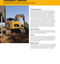 compact radius flexibility in tight quarters and peace of mind milton cat 314d lcr user manual page 8 32 [ 954 x 1235 Pixel ]