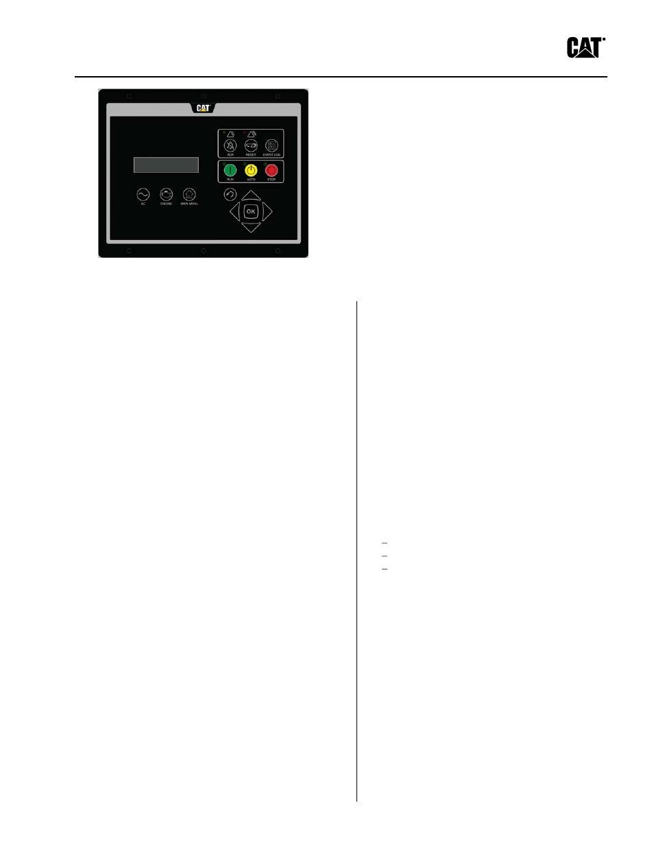 Milton CAT D100-6_S 100 kW EMCP4.2 Engine__Gen Control